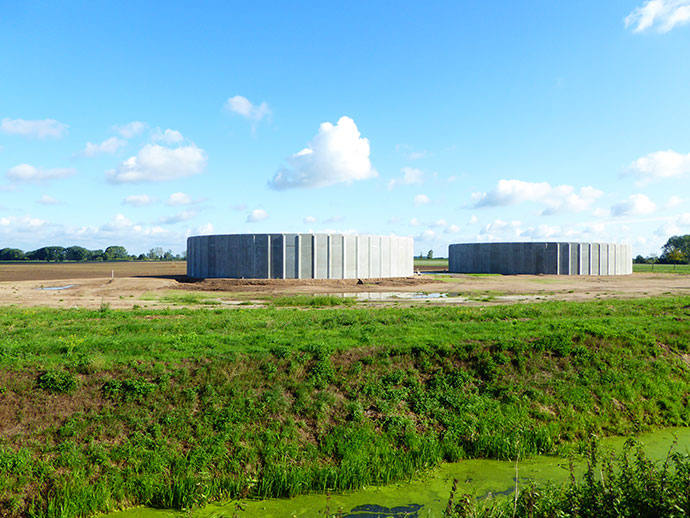 MVA Kleinzerbst: Neubau von zwei Güllebehältern