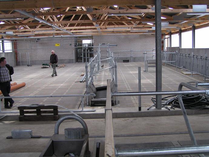 Errichtung eines Melkhauses in der MVA Cobbelsdorf