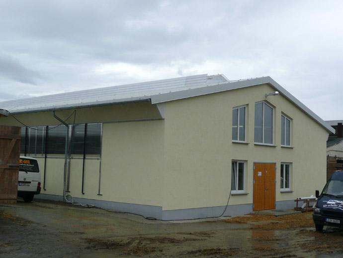 Errichtung eines Melkhauses in der MVA Großromstedt