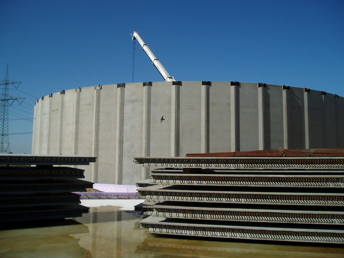 Errichtung von zwei Güllebehältern mit Abfüllplatte in der MVA Neuerstadt