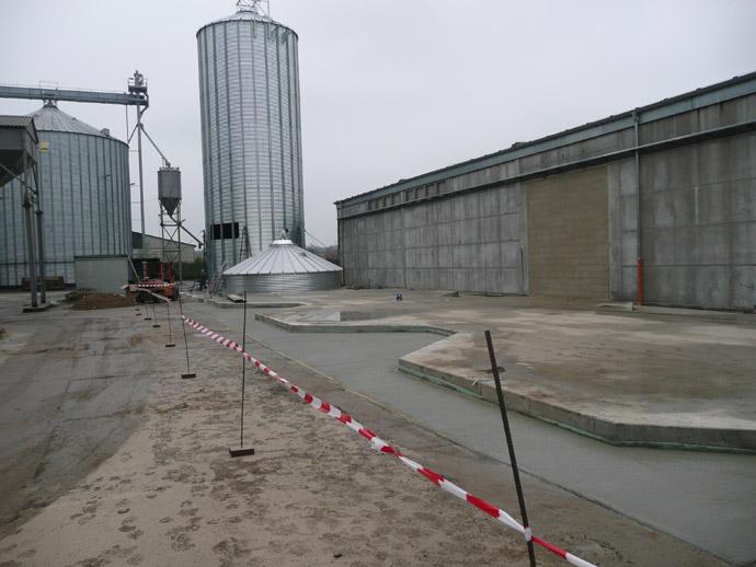 Getreidesiloanlage in Quellendorf