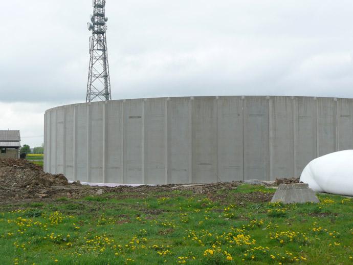 Errichtung eines Güllebehälters in der MVA Großzschocher