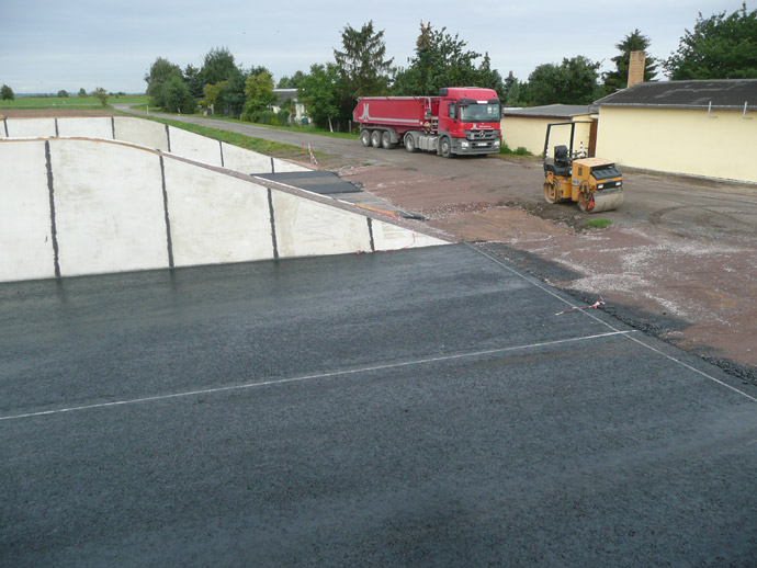 Errichtung eines Horizontalsilos in der MVA Brodau