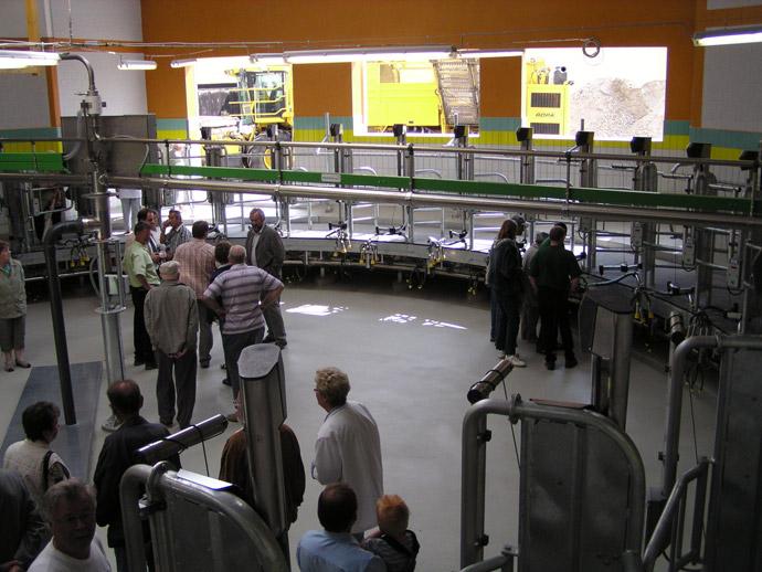 Errichtung eines Melkhauses in der MVA Selben