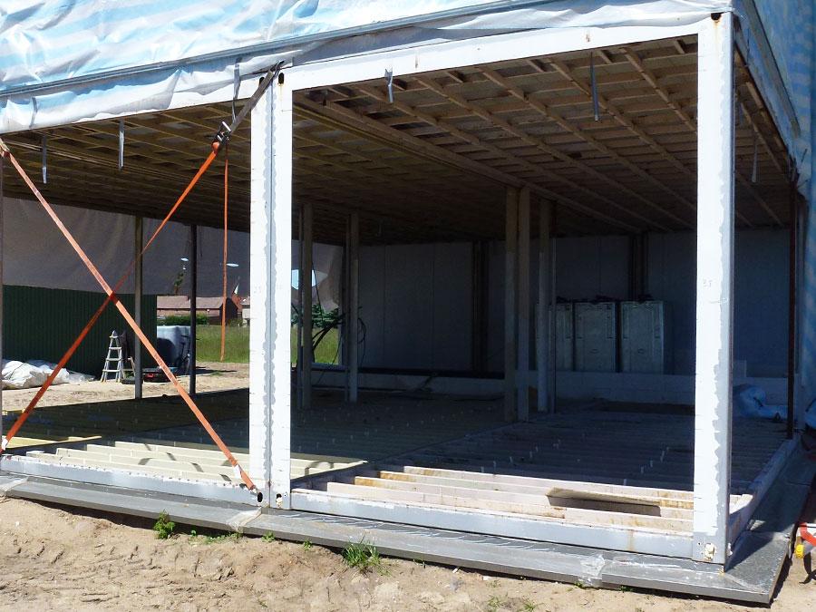 Projektumsetzung 2013: Ackerbau-Kluemper eK: Bürogebäude aus Altcontainern